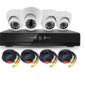 Kit 2203 комплект 4 внутренних камер AHD 2Мп