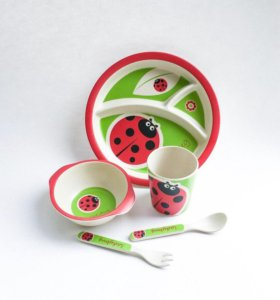 Бамбуковый набор посуды