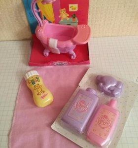 Ванная комната для пупса,набор с игрушкой для пупс