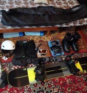 Комплект сноуборд head,drake,nitro,uvex как новый
