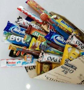 Сладкий букет, букет из шоколада, конфет