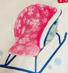 Новое сиденье меховое для санок