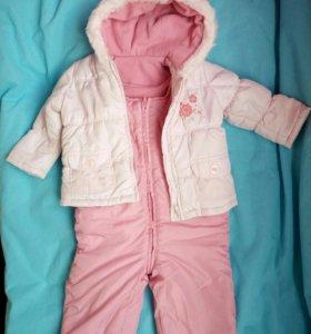 Зимний костюм на девочку 9-12 мес.