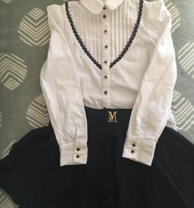 Блузка и юбка на девочку 8-10 лет