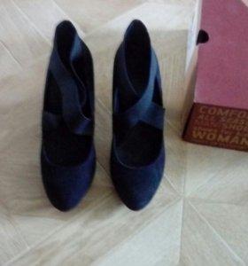 Туфли женские, замшевые, 37 размер