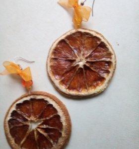 Серьги Апельсин