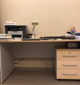 Стол письменный с тумбой 160*75*70