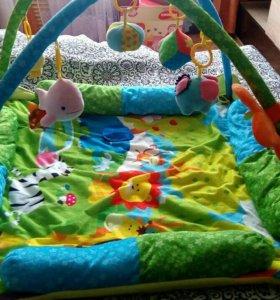 Детский развивающий коврик+игрушки в подарок