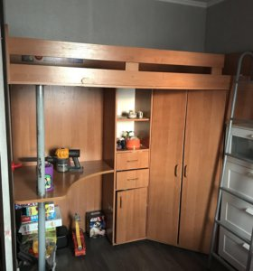 Детский уголок 4в1(стол,кровать,шкаф,стеллаж)