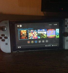 Nintendo Switch + чехол + sd карта