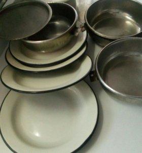 Посуда в поход( нержавейка)