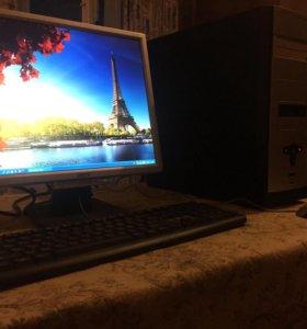 Компьютер + монитор Acer, клавиатура и мышь