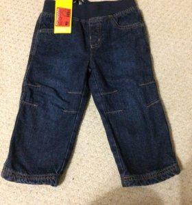 Новые утеплённые джинсы баркито , 86 р. и 92р.