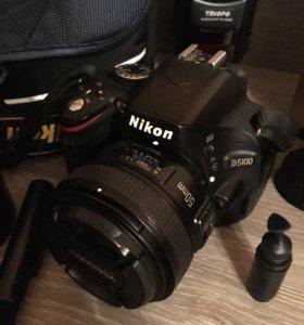 Nikon d5100+объектив 50mm 1.8+ вспышка