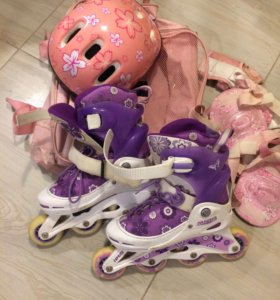 Ролики ( сумка, шлем, наколенники, налокотники)