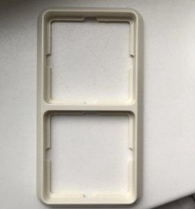 Рамка для розеток и выключателей двойная