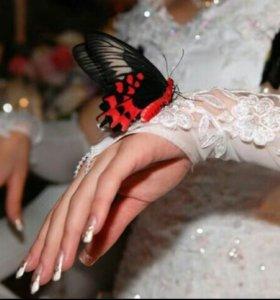 Свадебные живые украшения