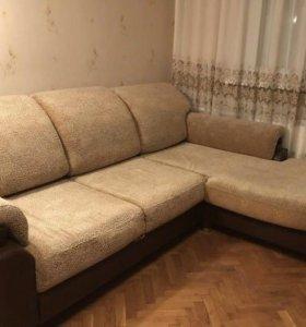 Угловой диван раскладной и кресло