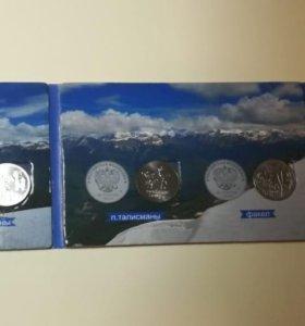 Набор Альбом Сочи 2014 Монеты 25 ₽ и Купюра 100₽