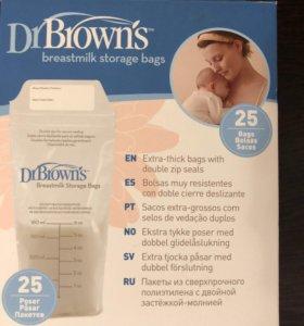 Пакеты для хранения грудного молока Dr.Brown's