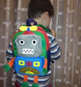 """Рюкзак """"Робот"""" от 2 до 5 лет."""