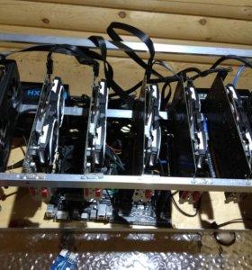 Майнинг ферма (7 x Radeon RX580 8Gb)