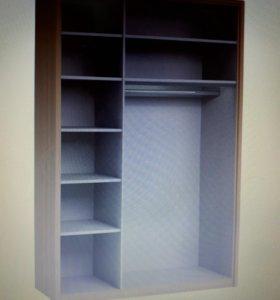 Шкаф для одежды трехдверный с зеркалом Дятьково