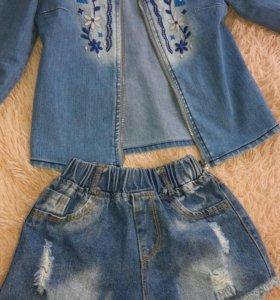 Джинсовка и джинсовые шорты