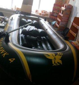 Надувная лодка Intex Seahawk-400(армированный ПВХ)
