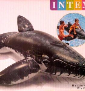 Кит, 201х135 см, от 3 лет до 40 кг INTEX