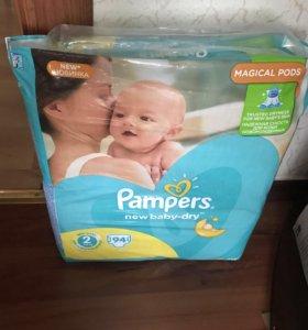 Подгузники/ Pampers New Baby-Dry 2 (3-6 кг) 94 шт.