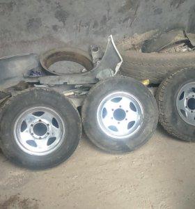 Продам диски и шины 195R14 грузовая