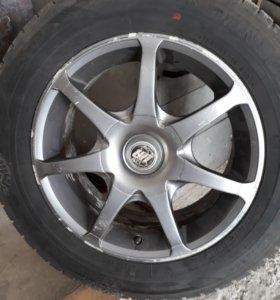 Колеса( шины на литых дисках)