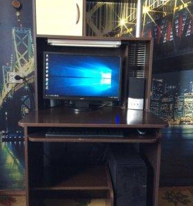 Компьютер acer + компьютерный стол и 2 колонки