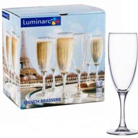 Бокалы luminarc French Brasserie шампанское 6шт