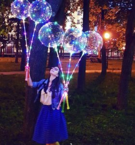 Воздушные светящиеся шары bobo LED