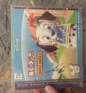 CD диск игровой «102Долматинца.ВокругСвета»