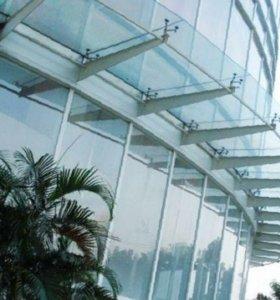 Козырьки стеклянные 119 для офиса