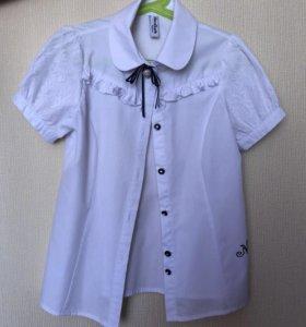 Блузка школьная для девочки, 130-140 см