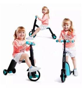 Скутер беговел велосипед 3 в 1