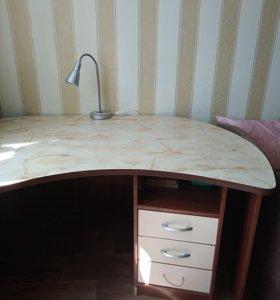 Продам большой стол б/у с тумбой
