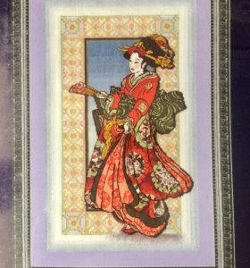 Набор для вышивания «Девушка в красном кимоно»