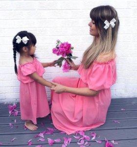 Платья для мамы и дочки новые
