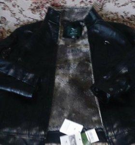 Новая Кожаная куртка для юношей