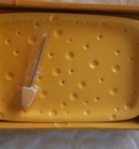 Тарелка для сыра новая в упаковке