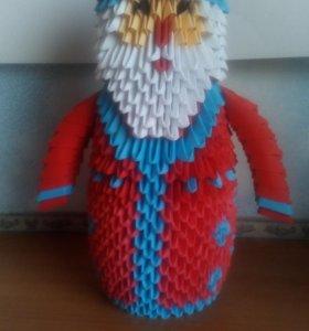 Дед Мороз из модулей оригами