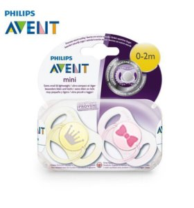 Мини-пустышка для девочки Philips Avent 0-2 месяца