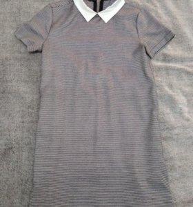 Платье в мелкую гусиную лапку/ломаную клетку