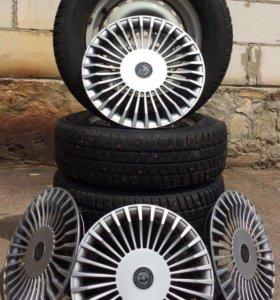Зимние шипованные колёса Barum на ВАЗ