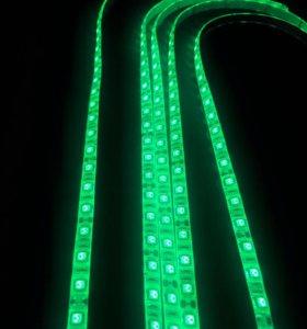 Зелёная светодиодная лента для дизайна компьютера